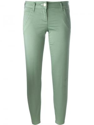 Укороченные брюки Jacob Cohen. Цвет: зелёный