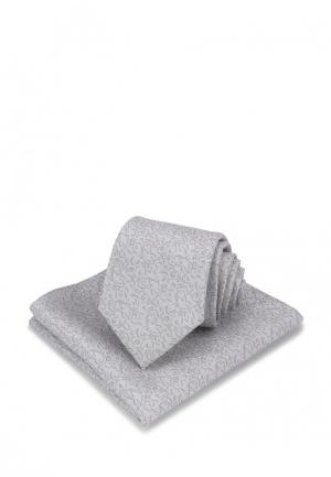 Комплект платок и галстук Carpenter. Цвет: серый