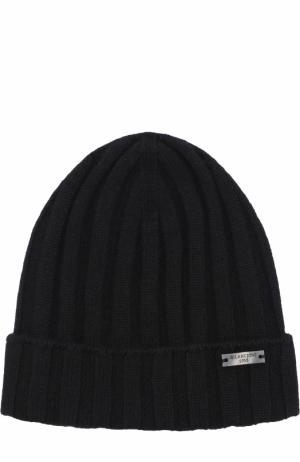 Кашемировая шапка фактурной вязки Bilancioni. Цвет: черный
