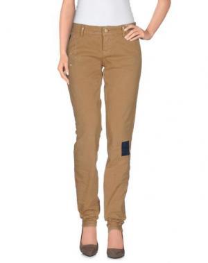 Повседневные брюки GALLIANO. Цвет: песочный