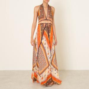 Платье длинная с открытой спиной ROMANE BA&SH. Цвет: оранжевый