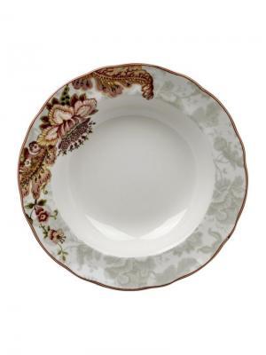 Тарелка глубокая, Волшебство, d.23,5 см Elff Ceramics. Цвет: зеленый,серый,бордовый