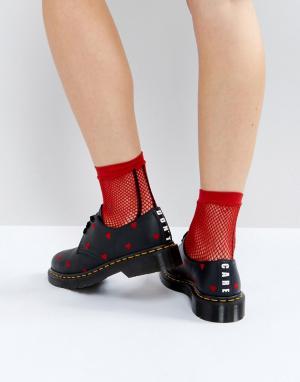 Dr Martens Туфли на плоской подошве x Lazy Oaf. Цвет: черный