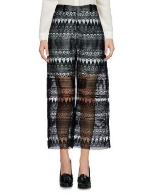 Повседневные брюки SELF-PORTRAIT. Цвет: черный