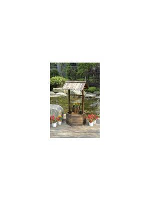 Кашпо для цветов ДСЛ 4141 цвет коричневый (колодец) Da Sent Lin ARTS. Цвет: коричневый