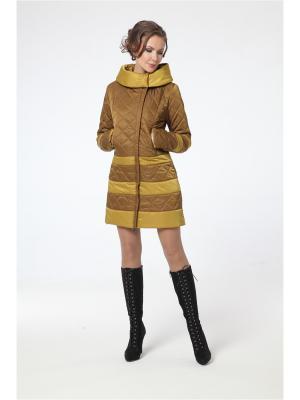 Пальто DizzyWay. Цвет: горчичный