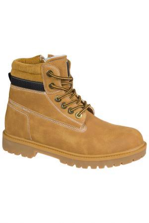 Ботинки MURSU. Цвет: желтый