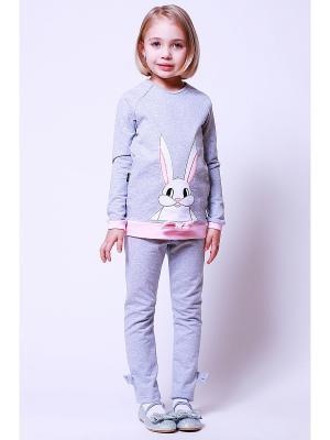 Кофта Храбрый заяц Emily Rise. Цвет: серый