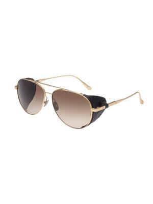 Солнцезащитные очки Bottega Veneta. Цвет: золотистый