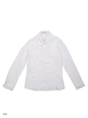 Блузка Julvern. Цвет: белый