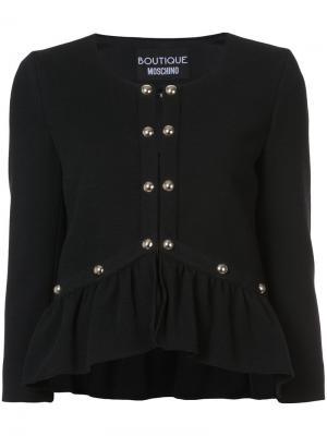 Жакет с вышивкой Boutique Moschino. Цвет: чёрный
