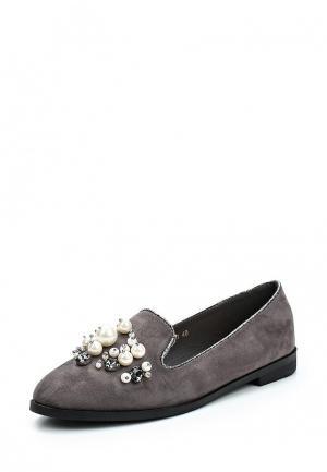 Лоферы Max Shoes. Цвет: серый