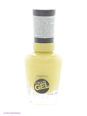 Гель лак для ногтей MIRACLE GEL, Тон 390 lemon heaven SALLY HANSEN. Цвет: желтый