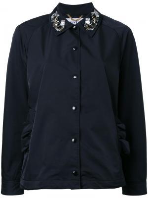Пиджак с декорированным воротником Muveil. Цвет: чёрный