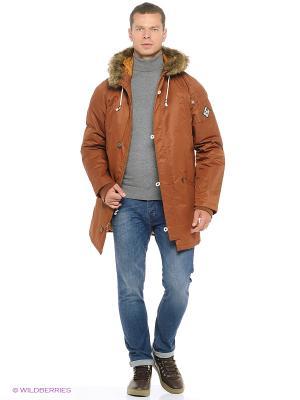 Куртка VANS. Цвет: коричневый