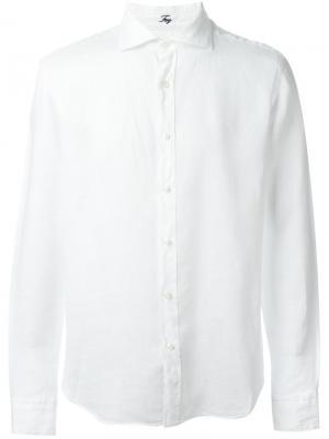 Классическая рубашка Fay. Цвет: белый