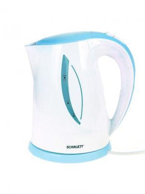 Чайник Scarlett SC-EK18P16 1.7л. 2200Вт белый/голубой (пластик). Цвет: белый, голубой