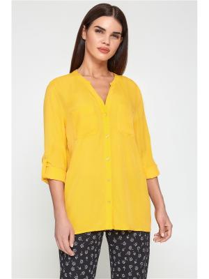 Блузка Bestia. Цвет: желтый