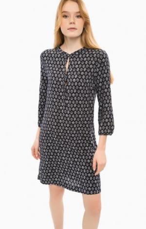 Платье из вискозы свободного кроя Cinque. Цвет: синий