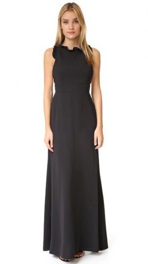 Вечернее платье с вырезом и оборками Jill Stuart. Цвет: голубой