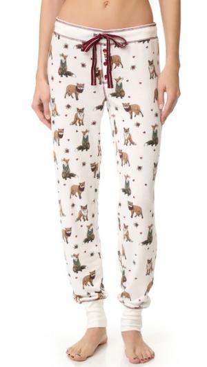 Пижамные брюки Fox Hunt PJ Salvage. Цвет: коричневый