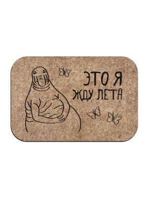 Коврик придверный Ждун лета MoiKovrik. Цвет: темно-бежевый