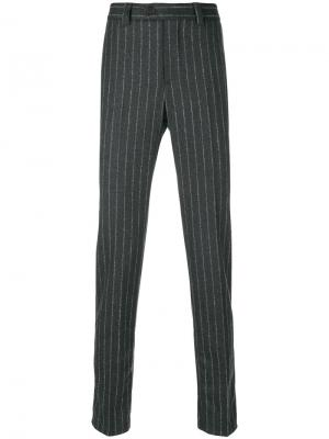 Классические брюки в полоску Brunello Cucinelli. Цвет: серый