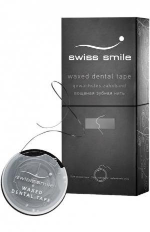 Вощеная зубная лента Basel Swiss Smile. Цвет: бесцветный