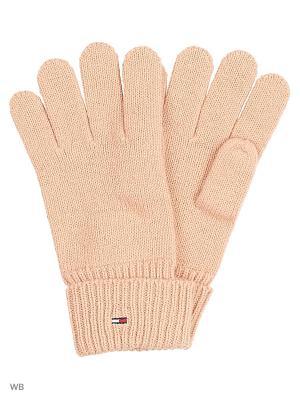 Перчатки Tommy Hilfiger. Цвет: розовый