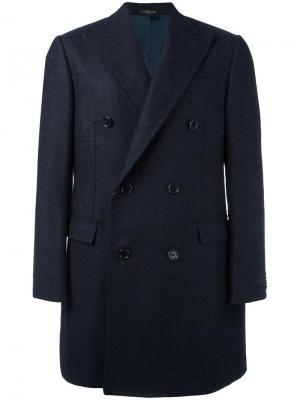 Двубортное пальто Corneliani. Цвет: чёрный