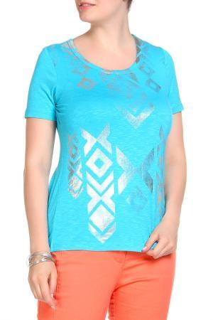 Блуза SARAH KERN. Цвет: голубой