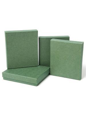 Коробка крафт, набор из 4 Нефрит VELD-CO. Цвет: хаки