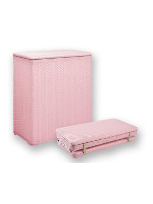Корзина для белья 49х27х55см плетеная, розовая NIKLEN. Цвет: розовый