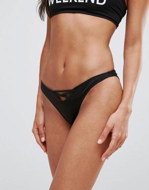 Chaser Черные трусы бикини с лямками. Цвет: черный