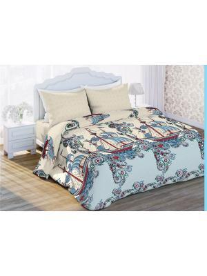 Комплект постельного белья 1,5 бязь Владыка морей Любимый Дом. Цвет: белый
