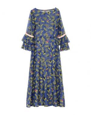 Длинное платье DV Roma. Цвет: темно-синий