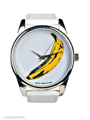 Часы Mitya Veselkov. Цвет: белый, желтый