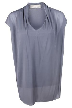 Блузка Alysi. Цвет: серый