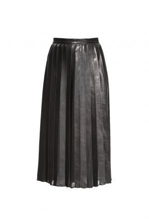 Кожаная юбка 160554 Izeta. Цвет: черный