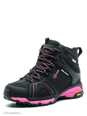 Ботинки Ascot. Цвет: черный, фуксия