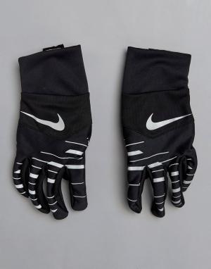 Nike Running Черные перчатки Tempo 360 Flash RG.J0-037B. Цвет: черный