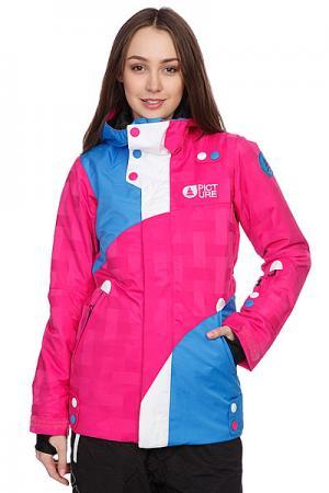 Куртка женская  Pulp Jkt Pink Picture Organic. Цвет: розовый,синий