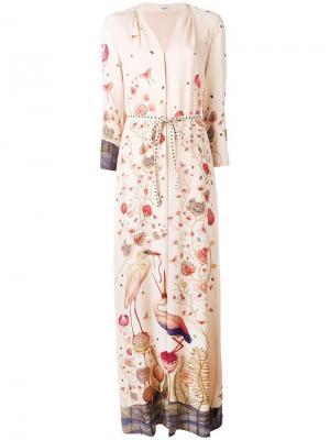 Длинное платье Jill Vilshenko. Цвет: телесный