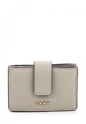 Визитница DKNY. Цвет: серый