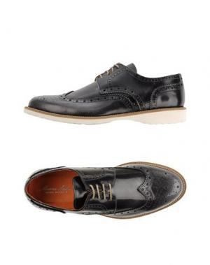 Обувь на шнурках MARIO LUISO. Цвет: темно-синий
