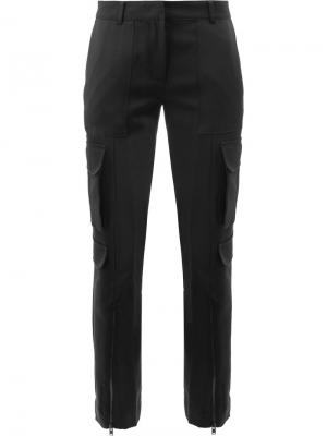 Укороченные строгие брюки Juun.J. Цвет: чёрный