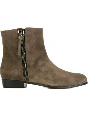 Ботинки на молнии Giuseppe Zanotti Design. Цвет: серый
