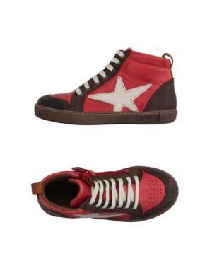 Высокие кеды и кроссовки BISGAARD. Цвет: красный