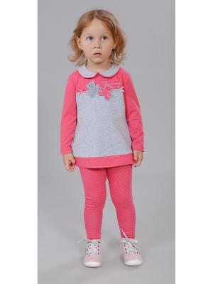Комплект одежды Милашка Сьюзи. Цвет: серый, коралловый