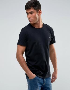 Jack Wills Черная футболка Sandleford. Цвет: черный